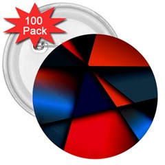 3d And Abstract 3  Buttons (100 pack)