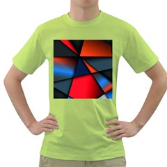 3d And Abstract Green T-Shirt