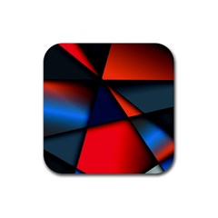 3d And Abstract Rubber Square Coaster (4 pack)