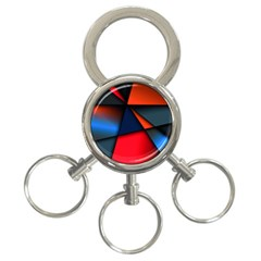 3d And Abstract 3-Ring Key Chains