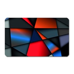 3d And Abstract Magnet (Rectangular)