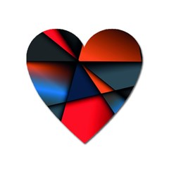 3d And Abstract Heart Magnet