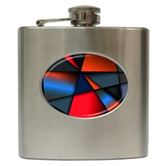 3d And Abstract Hip Flask (6 oz)