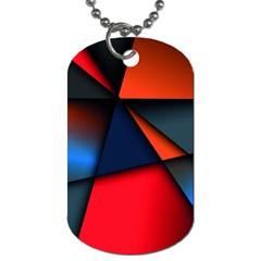 3d And Abstract Dog Tag (Two Sides)