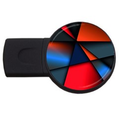 3d And Abstract USB Flash Drive Round (2 GB)