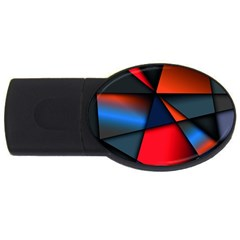 3d And Abstract USB Flash Drive Oval (1 GB)
