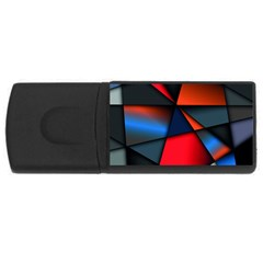 3d And Abstract USB Flash Drive Rectangular (1 GB)