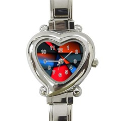 3d And Abstract Heart Italian Charm Watch