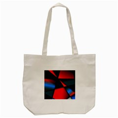 3d And Abstract Tote Bag (Cream)