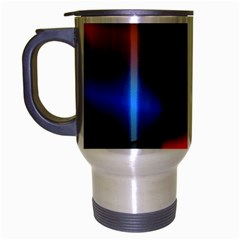 3d And Abstract Travel Mug (Silver Gray)