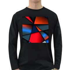 3d And Abstract Long Sleeve Dark T-Shirts