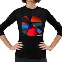 3d And Abstract Women s Long Sleeve Dark T-Shirts