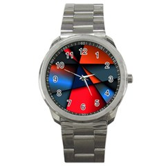 3d And Abstract Sport Metal Watch