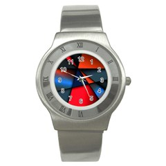 3d And Abstract Stainless Steel Watch