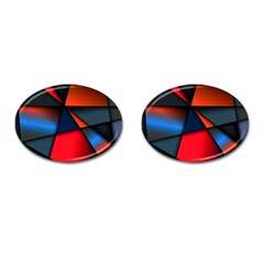 3d And Abstract Cufflinks (Oval)