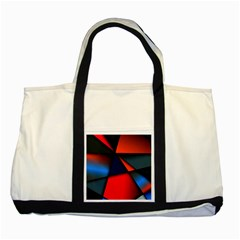 3d And Abstract Two Tone Tote Bag