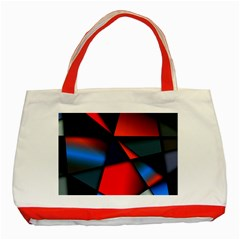 3d And Abstract Classic Tote Bag (Red)