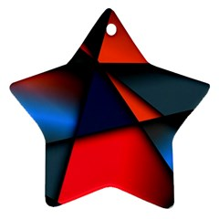 3d And Abstract Star Ornament (Two Sides)