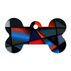 3d And Abstract Dog Tag Bone (Two Sides)
