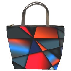 3d And Abstract Bucket Bags