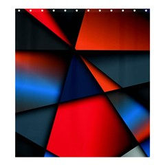 3d And Abstract Shower Curtain 66  x 72  (Large)