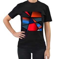 3d And Abstract Women s T-Shirt (Black)