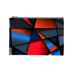 3d And Abstract Cosmetic Bag (Large)