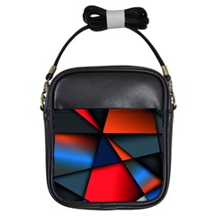 3d And Abstract Girls Sling Bags