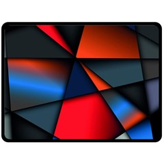 3d And Abstract Fleece Blanket (Large)