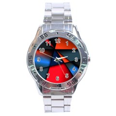 3d And Abstract Stainless Steel Analogue Watch