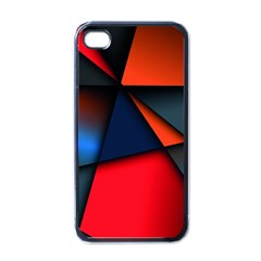3d And Abstract Apple iPhone 4 Case (Black)