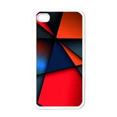 3d And Abstract Apple iPhone 4 Case (White)