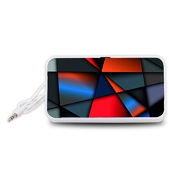 3d And Abstract Portable Speaker (White)