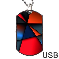 3d And Abstract Dog Tag USB Flash (One Side)