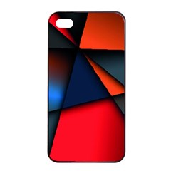 3d And Abstract Apple iPhone 4/4s Seamless Case (Black)