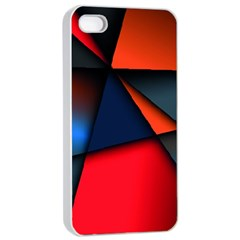 3d And Abstract Apple iPhone 4/4s Seamless Case (White)