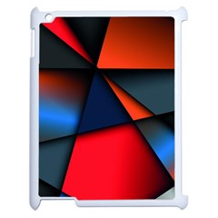 3d And Abstract Apple iPad 2 Case (White)
