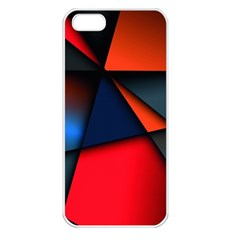 3d And Abstract Apple iPhone 5 Seamless Case (White)