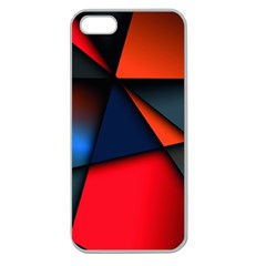 3d And Abstract Apple Seamless iPhone 5 Case (Clear)