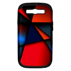 3d And Abstract Samsung Galaxy S III Hardshell Case (PC+Silicone)