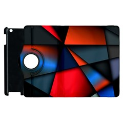 3d And Abstract Apple iPad 2 Flip 360 Case