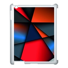 3d And Abstract Apple iPad 3/4 Case (White)