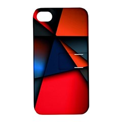 3d And Abstract Apple iPhone 4/4S Hardshell Case with Stand