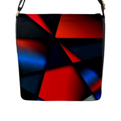 3d And Abstract Flap Messenger Bag (L)