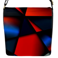 3d And Abstract Flap Messenger Bag (S)