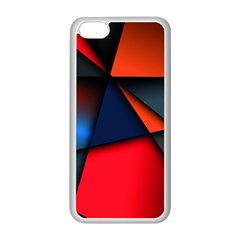 3d And Abstract Apple iPhone 5C Seamless Case (White)
