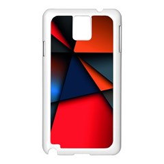 3d And Abstract Samsung Galaxy Note 3 N9005 Case (White)