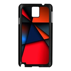3d And Abstract Samsung Galaxy Note 3 N9005 Case (Black)