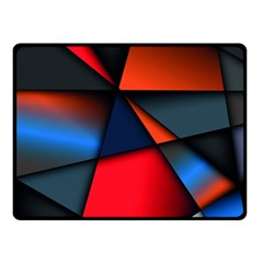 3d And Abstract Double Sided Fleece Blanket (Small)
