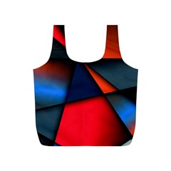 3d And Abstract Full Print Recycle Bags (S)
